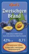 Zwetschgen-Brand 42%